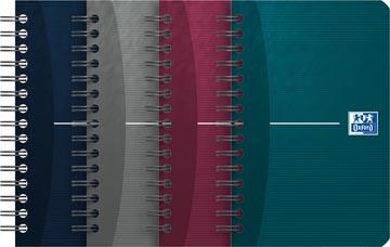 Oxford Office Essentials carnet de notes, 180 pages, ft 9 x 14 cm, quadrillé 5 mm, couleurs assorties