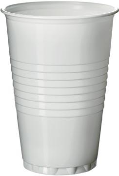 Gobelet en polystyrène pour des boissons chaudes, 200 ml, blanc, paquet de 100 pièces