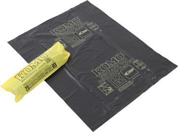 Komo sac à ordures, 50 microns, 60 litres, 1 rouleau, 20 sacs, gris