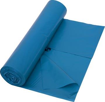 Sac poubelle 38 microns, ft 70 x 110 cm, bleu, rouleau de 25 pièces