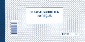 Carnet reçus, bilingue, deux plis