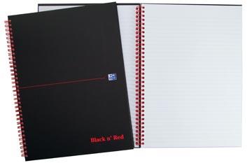 Oxford BLACK N' RED cahier spiralé en carton, 140 pages ft A5, ligné