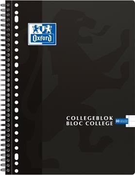 Oxford School bloc collège, ft A4+, 160 pages, 23 trous, marge, ligné, noir