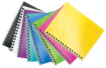 Leitz WOW cahier, ft A5, ligné,couleurs assorties