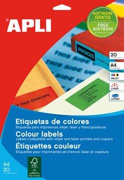 Etiquettes colorées