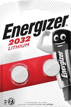 Energizer pile bouton, CR2032, blister 2 pièces