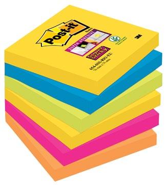 Post-it Super Sticky notes Rio, ft 76 x 76 mm, 90 feuilles, paquet de 6 blocs