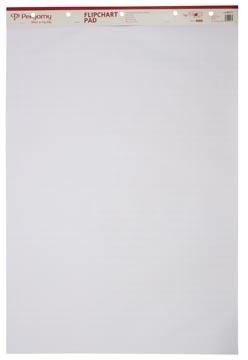 Pergamy bloc pour tableau de conférence, ft 65 x 98 cm, blanc et quadrillé, paquet de 50 feuilles