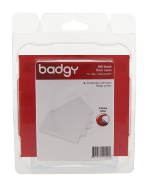Badgy 100 cartes blanches vierges, 0,76 mm, pour Badgy100 ou Badgy200