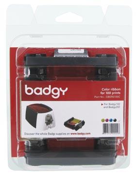 Badgy ruban couleur 100 impressions, pour Badgy100 et Badgy200