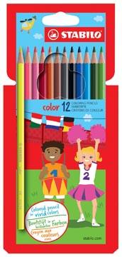 STABILO Color crayon de couleur, étui cartonné de 12 pièces