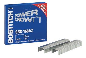 Bostitch agrafes SB8-168E, 6 mm, pour B8R, B8HC, B8E, B8HDP et B8P, boîte de 1050 agrafes