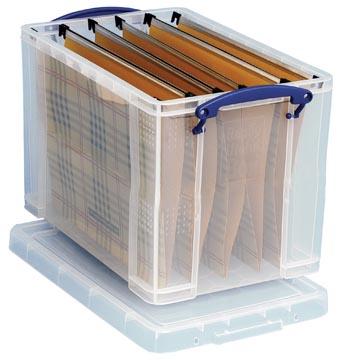 Really Useful Box boîte de rangement 19 l, pour dossiers suspendus et 10 dossiers suspendus inclus